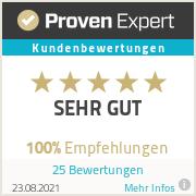 Kundenerfahrungen und Bewertungen auf Proven Expert